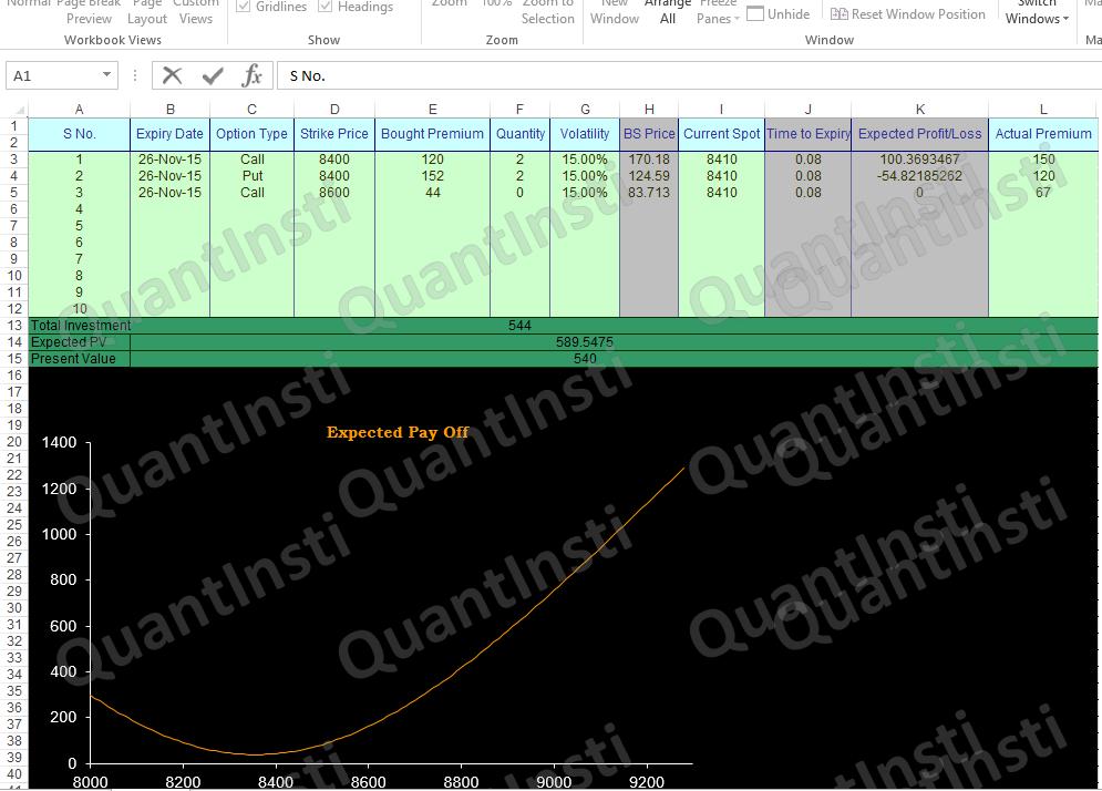 Options Trading Screenshot
