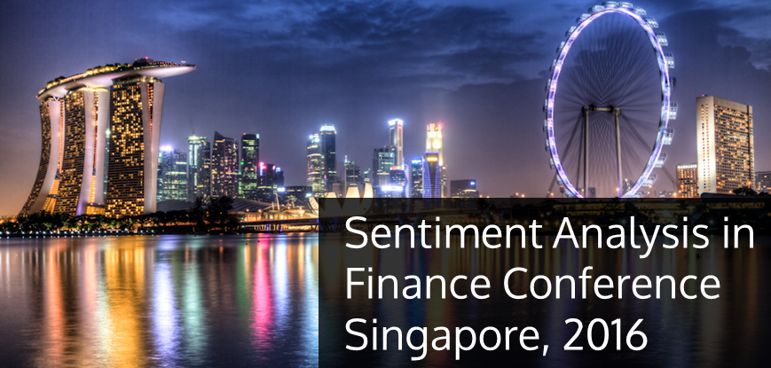 Sentiment Analysis in Finance Conference, Singapore