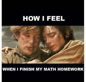 When I finish my math homework
