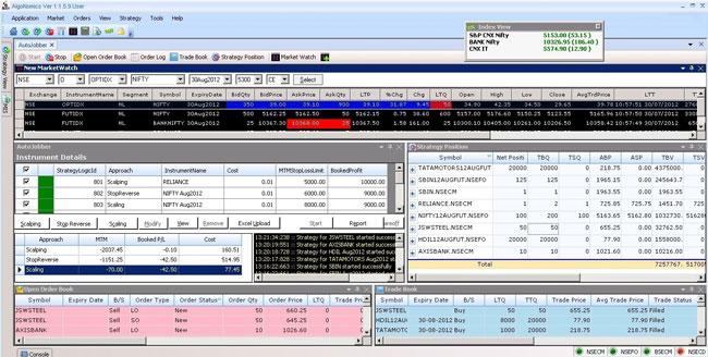 Screenshot of Algonomics platform