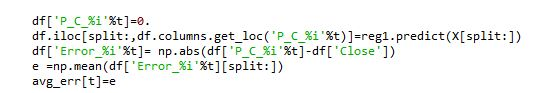 predict() function