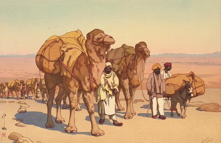 Ancient trade - Caravan of camels
