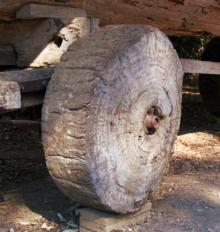 The earliest wheels used for trading