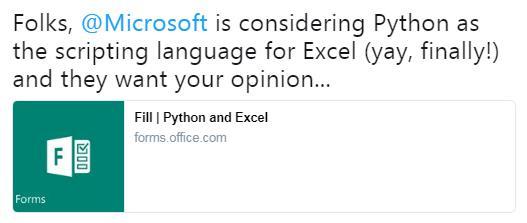 Python scripting in excel