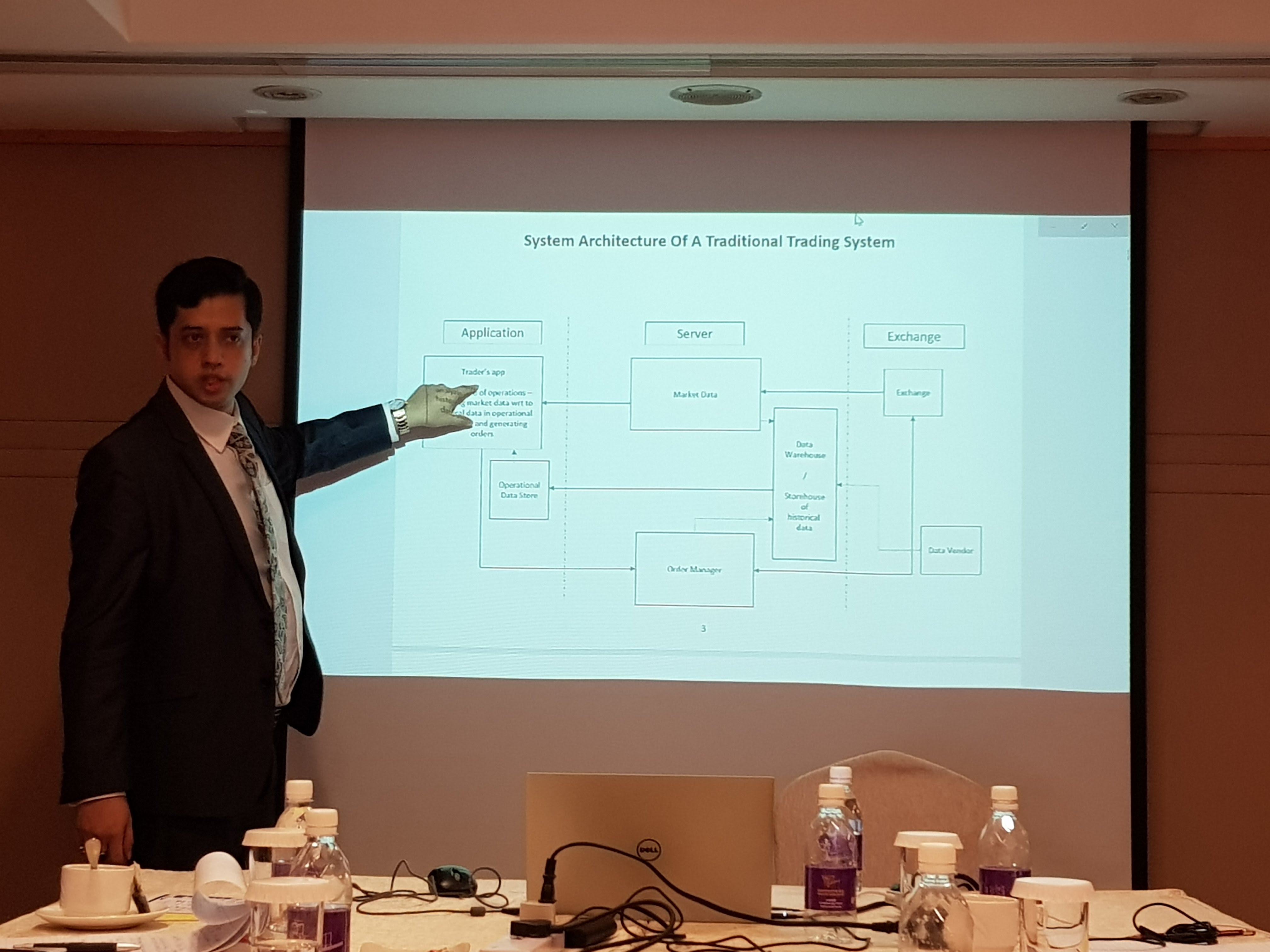 Rajib at Market Microstructure And Algorithmic Trading Workshop