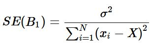 equation for the standard error