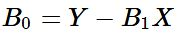 equation of intercept