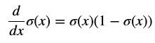 Derivative of activation function