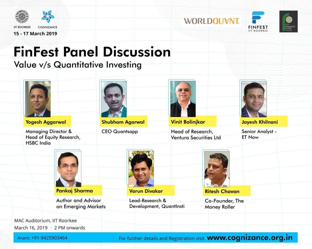 IIT Roorkee 2019 Panelists
