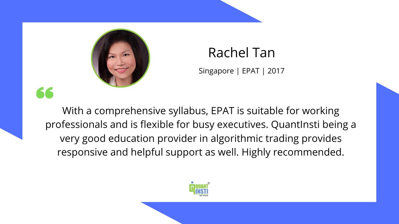 Rachel Tan Testimonial