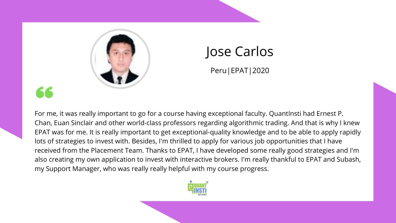 José Carlos testimonial