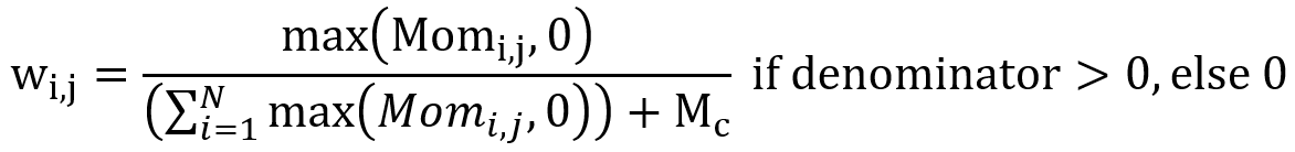 computing weight assigned to each asset