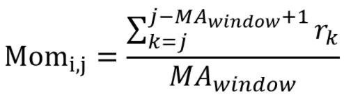 momentum metrics formula